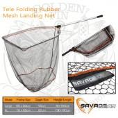 Savage Gear TELE FOLDING RUBBER MESH LANDING NET