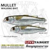 LiveTarget MULLET Walking Bait 100