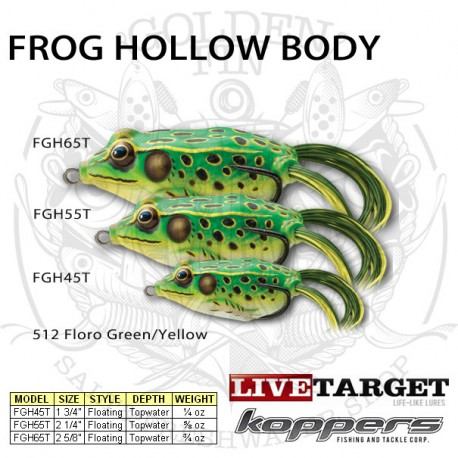 LiveTarget FROG HOLLOW BODY 55