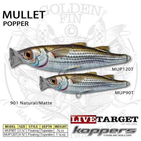LiveTarget MULLET Popper 90