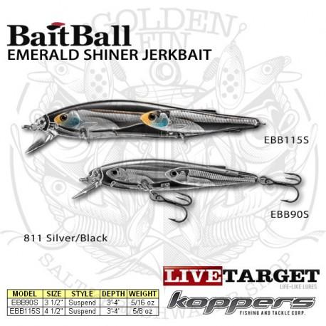 LiveTarget EMERALD SHINER BaitBall Jerkbait