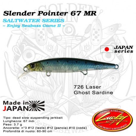 Lucky Craft SW SLENDER POINTER 67 MR