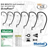 Mustad Big Mouth Hook 38104NP-BN