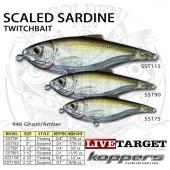 LiveTarget SCALED SARDINE Twitchbait 75 Suspending