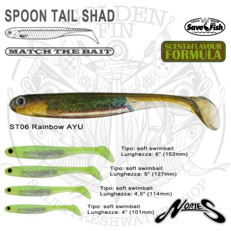 Nories SPOON TAIL SHAD 4""