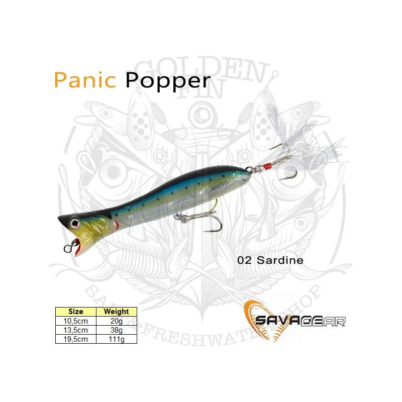 Savage Gear Panic Popper lure for saltwater predators 38g 13,5cm