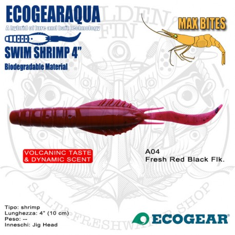 "Ecogear ECOGEARAQUA Swim Shrimp 4"""