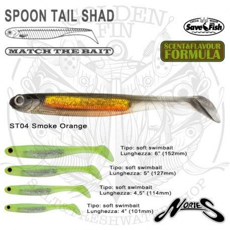 """Nories Spoon Tail Shad 4"""""""