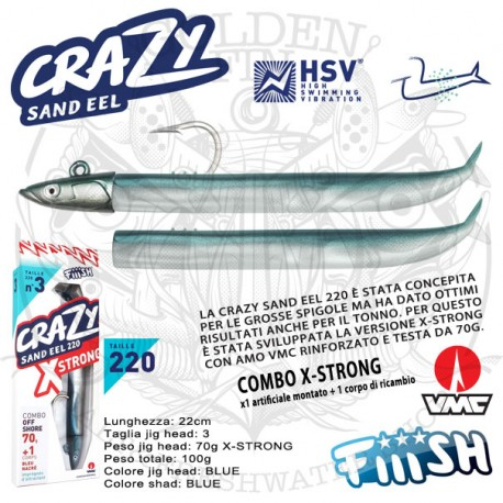 Fiiish CRAZY SAND EEL 220 X-STRONG