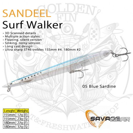 Savage Gear SANDEEL SURF WALKER 180 F