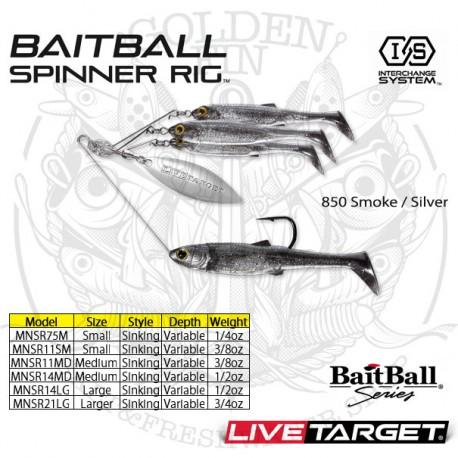 LiveTarget BAITBALL SPINNER RIG