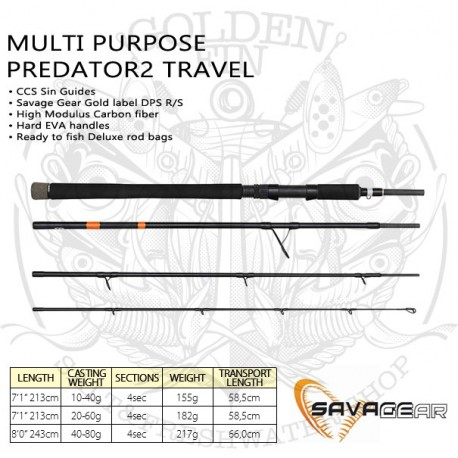 SAVAGE GEAR MULTI PURPOSE PREDATOR2 TRAVEL