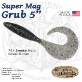 Action Plastics Super Mag Grub Holo 5""