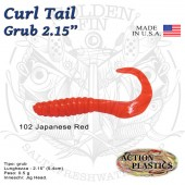 Action Plastics Curl Tail Grub 2.15""
